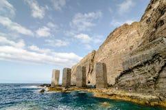 Steintürme in La Gomera-Insel, Kanarische Inseln lizenzfreies stockbild