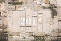 Steintablette im Jahre 2017-2 Stockbilder