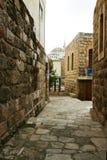 Steintal in Jordanien Stockbild