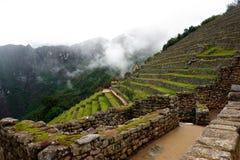 Steinterrasse Machu Pichu Lizenzfreie Stockbilder