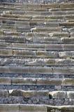 Steintheater-Sitze in Pompeji, Italien Stockbild