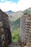 Steintreppe bei Machu Picchu Stockfotos