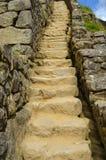Steintreppenhaus Machu Picchu Lizenzfreie Stockfotos