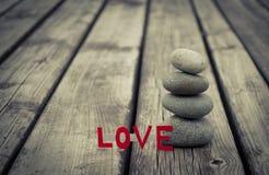 Steinturm und Liebe Stockfotografie