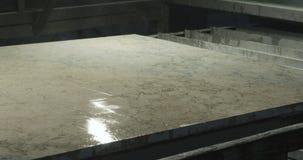 Steinverarbeitungsvollenden stock footage