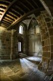 Steinwände innerhalb eines Klosters Lizenzfreie Stockfotografie