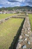 Steinwände von Pumapungo-Ruinen Stockbilder
