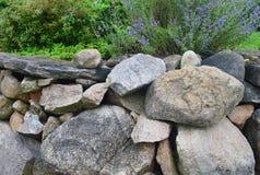 Steinwand auf Block-Insel 3 Stockfoto