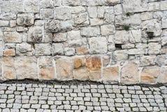 Steinwand backgrond Stockbild