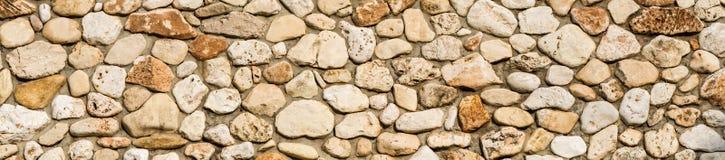 Steinwand-Beschaffenheitshintergrund, Panorama der Maurerarbeit lizenzfreies stockbild
