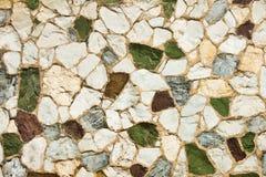 Steinwand der verschiedenen Farben Lizenzfreie Stockbilder
