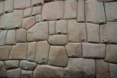 Steinwand des alten Inkas in der Stadt von Cusco, Peru stockfoto