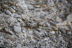 Steinwand des alten Kiesels Lizenzfreies Stockfoto