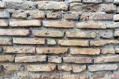Steinwand des alten Ziegelsteines Stockfotografie