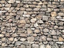 Steinwand des mittelalterlichen Schlosses. stockbild