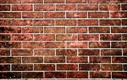 Steinwand des roten Ziegelsteines in der grunge Art Lizenzfreie Stockfotografie