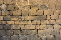 Steinwand des traditionellen Basalts Lizenzfreie Stockfotos