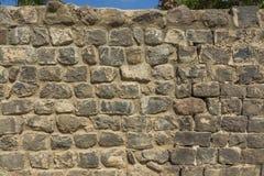 Steinwand des traditionellen Basalts Lizenzfreies Stockfoto