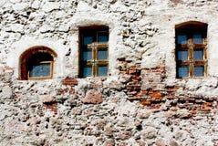 Steinwand eines alten Hauses Stockbilder