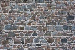 Steinwand eines alten Klosters stockfoto
