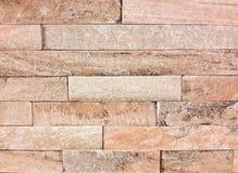 Steinwand hergestellt mit Blöcken Stockfotos
