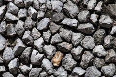 Steinwand im Detail als Hintergrund Lizenzfreies Stockfoto
