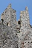 Steinwand im Kloster Manasija Lizenzfreies Stockbild