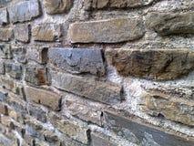 Steinwand in Italien stockfoto