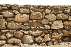 Steinwand lokalisiert Lizenzfreies Stockbild
