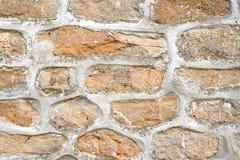 Steinwand mit Kleber Lizenzfreies Stockfoto