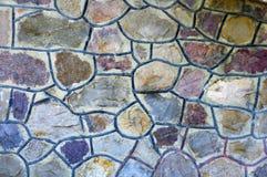Steinwand-Mosaik stockbilder