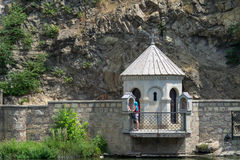 Steinwand in Tiflis, Georgia Lizenzfreie Stockbilder