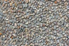 Steinwand von Kieseln stockbild