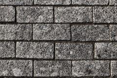 Steinwand, waagerecht ausgerichtete Maurerarbeit der Pflasterung nicht, Makro lizenzfreies stockbild