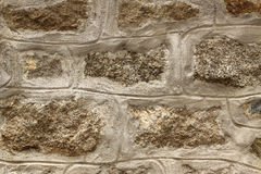 Steinwandhintergrund horizontal Stockbild