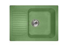 Steinwanne gemacht vom Granitquadrat in der grünen Farbe Lizenzfreies Stockfoto