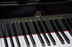 Steinway大平台钢琴钥匙  图库摄影