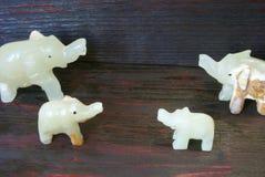 Steinzahlen des handgemachten Glückes der Elefanten! Lizenzfreies Stockbild