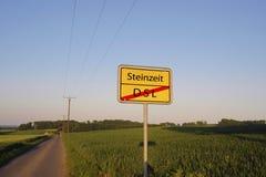 Steinzeitalter kein DSL-Zeichen Lizenzfreie Stockbilder