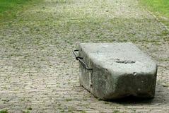 Steinziehen am Basken Lizenzfreies Stockbild