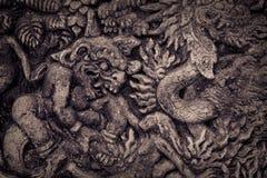 Steinzusammensetzung im Affe-Wald Stockbild