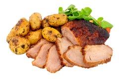 Stek Duck Meat Meal fotografering för bildbyråer