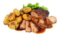 Stek Duck Meat Meal arkivbilder