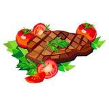 Stek för galler för matställe för mål för mat för kött för biffnötköttvektor stock illustrationer