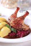 stek för potatis för kålandklimpar röd arkivbild