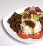 Stek, grule i sos, Obrazy Stock