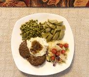 Stek, grule i sos, Zdjęcie Royalty Free
