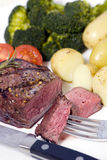 stek krzyżową na szczyt Zdjęcia Stock