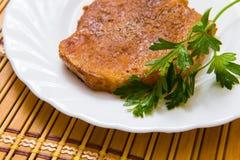 Stek na talerzu Zdjęcie Royalty Free