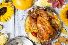 stek Turkiet med gr?nsak- och vinexponeringsglas fotografering för bildbyråer